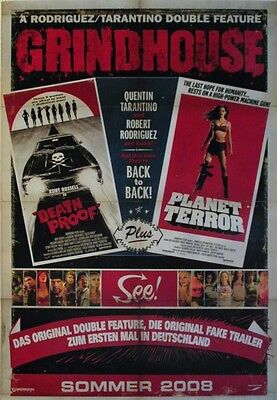 Quentin Tarantino GRINDHOUSE Planet Terror Death Proof Filmplakat A1 GEROLLT