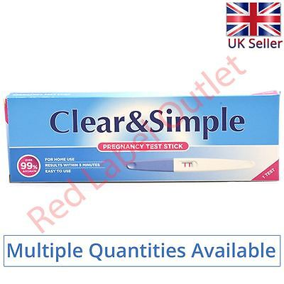 Clear & Simple Early High Sensitivity Pregnancy Midstream 20mIU Urine Test Stick