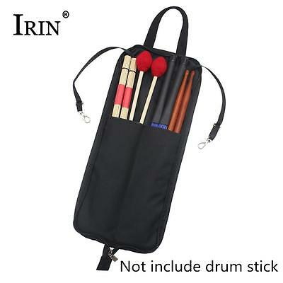 IRIN Drum Stick Bag with Handy Strap Waterproof Drum Stick Case Box Cloth Black