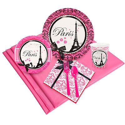 Paris Damask Party Pack for 24