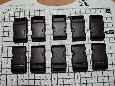 """10pcs. Plastic Side Release Buckles For Webbing 20mm Bags Straps Clips  """"B"""""""
