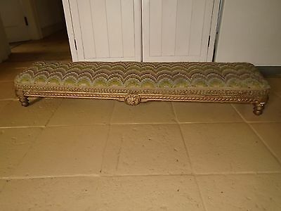 Antique Victorian Kneeler -  Wool Tapestry Cover