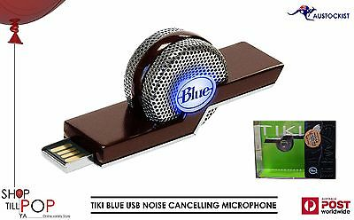 TIKI BLUE USB MICROPHONE NOISE CANCELLING CARDIOD BNIB USB High qaulity