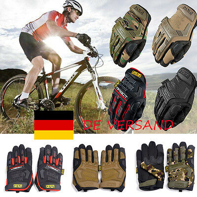DE Cycling Hiking Touch Screen Tactical Outdoor Full Finger Gloves Handschuhe