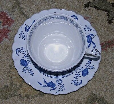 J & G Meakin ~ Cup & Saucer Classic NORDIC English Ironstone ~ Hand Engraving