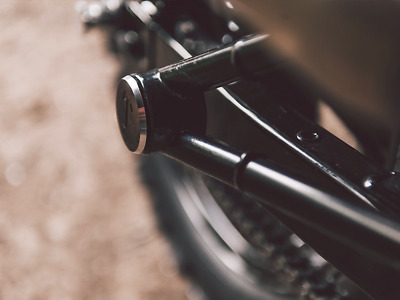 TEC Black Anodised Rear Footpeg Blanking Covers - For Triumph Street Twin