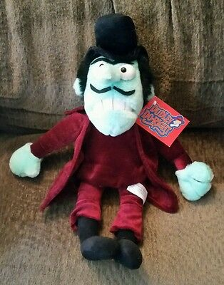 """Rocky & Bullwinkle Dudley Do-Right Snidely Whiplash 16"""" Plush Toy"""