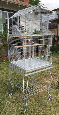 NEW Large Pagoda Roof Top Lovebird Cockatiels Parakeets Bird Cage W/Stand 258