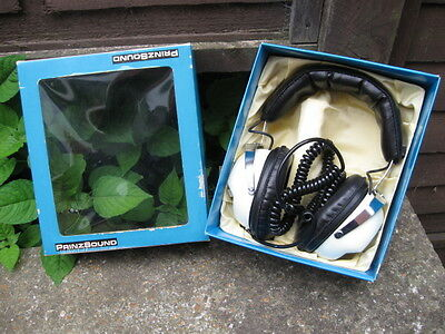 Vintage Prinzsound 808V Stereo Hi-Fi Headphones.boxed.classic Stereo Accessory.
