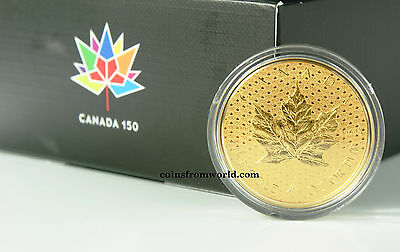 "Canada 2017  200$ 150 Iconic Maple Leaf  ""2""   1 oz Pure Gold Coin NEW!"