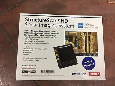Brand New!! Simrad/Lowrance 000-10801-001 StructureScan HD Without Transducer