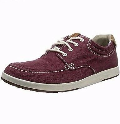 0c46ef91003b NEW CLARKS NORWIN VIBE Men Burgundy CASUAL Canvas BEACH SHOES RRP 50 -  £39.99