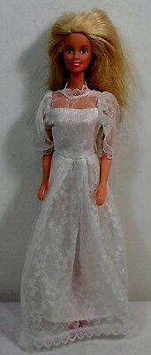 MATTEL BARBIE 1998 12'' BLONDE HAIR BRIDE DOLL w/ WEDDING DRESS