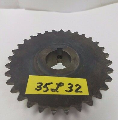 Linn gear 35L32  sprocket, 1 inch bore with keyway and setscrew, 32 teeth for 35