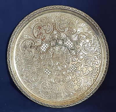 Beautiful Vintage Small Silver Heavy Plated Tray