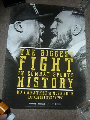 Conor McGregor Vs Mayweather Biggest Fight In History Boxing Poster UFC 18x24