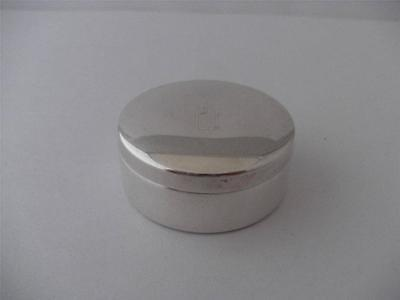 Nice vintage solid silver pill trinket box