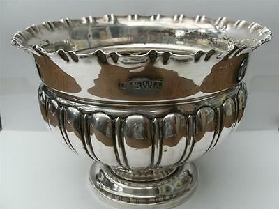 Beautiful Solid Silver Rose Bowl Chester 1901