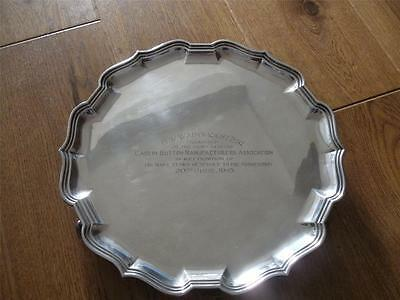 SUPERB LARGE STERLING SILVER SALVER TRAY Sheffield 1924 Mappin & Webb