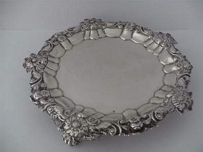 SUPERB GEORGIAN STERLING SILVER WAITER TRAY SALVER London 1818