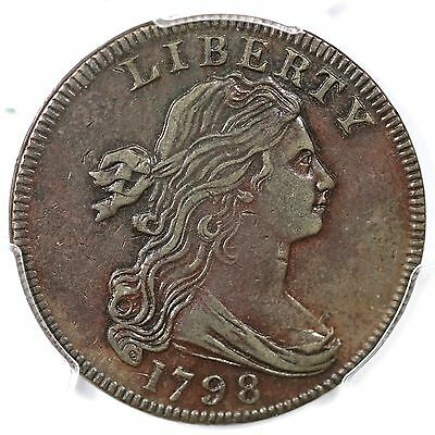 1798 S-160 R-3 PCGS VF 35 1st Hair Style Draped Bust Large Cent Coin 1c