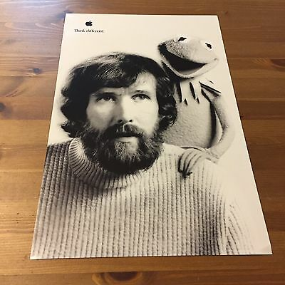 Jim Henson Kermit The Frog Apple Think Different Poster 17x11