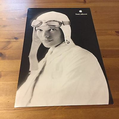 Amelia Earhart Apple Think Different Poster 17x11