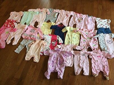 Baby Girl Clothes Lot  21 Pcs Outfit Pajama Sleep Bag Cater's0-3-6  -18 Months
