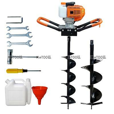 "2.2HP 52CC Gas Powered Post Hole Digger With 6""/10"" Earth Auger Power Engine US"