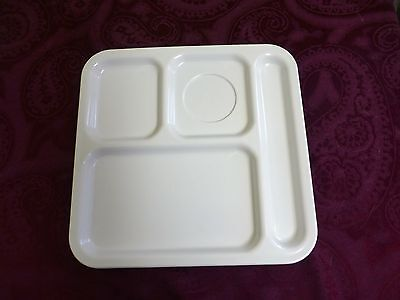 """1 Vintage TEXAS WARE Divided Plate Cafeteria Trays Excellent Condition 10""""x10"""""""