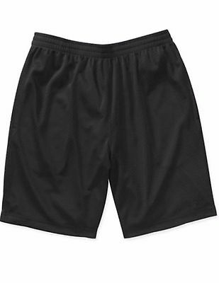 NEW Starter Mens Active Mesh Basketball Running Shorts Black, Sizes Small-3 XL
