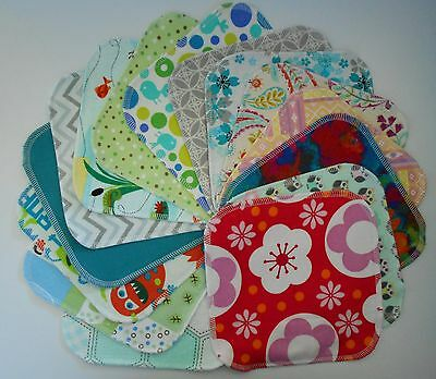 Assorted 5 Cloth Wipes Tissues Baby Flannel 2 Ply Family Cloth Reusable Random