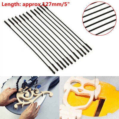 12pcs 5'' 127mm Pinned Scroll Saw Blades Woodworking Power Tools Accessories