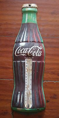 Vintage 1960s  Donasco COCA-COLA Soda Advertising Bottle Wall Thermometer Coke