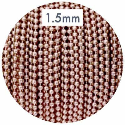 1.5mm ball chain stainless steel ROSE GOLD for silicone jewellery DIY necklace