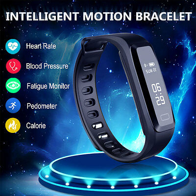 Smart Wristband Watch Sport Fitness Tracker Heart Rate Blood Pressure Monitor UK