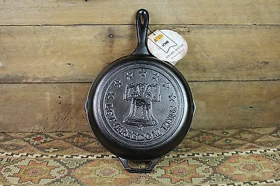 No.8 Let Freedom Ring Lodge Liberty Bell Cast Iron Skillet