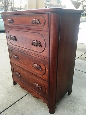 Davis Cabinet Lillian Russel Collection Cherry Antique Chest Of Drawers Dresser
