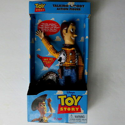 "NEW Toy Story Talking Woody Action Figure 11"" Doll Vintage Thinkway Toys Disney"