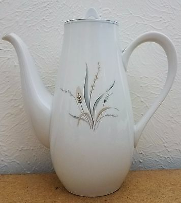 Vintage Fine China Simplicity by Style House Coffee Pot with Lid Wheat Pattern