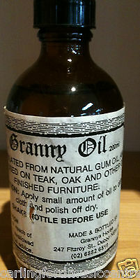 GRANNY'S OIL WOOD POLISH FOR OPEN POUR OR WOOD FINISHES Pianos @CarlingfordMUSIC