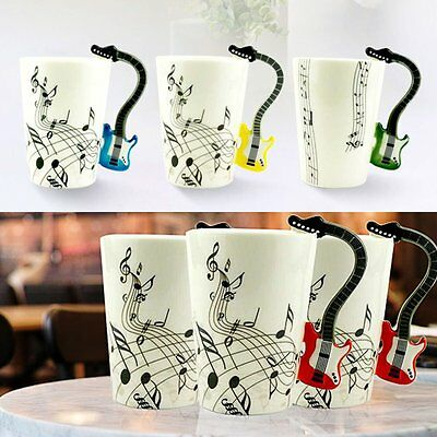 Ceramic Mug Cup Musical Instrument Note Style Coffee Milk Cup Christmas Gift YS
