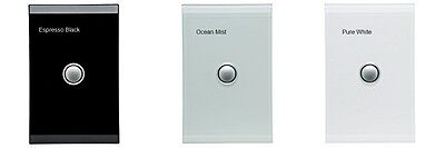 CLIPSAL SATURN SINGLE SWITCH Ocean Mist Pure White Espresso Black
