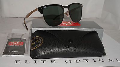 RAY BAN New Sunglasses Blaze Clubmaster Gold Green Classic RB3576N 043 71 47  140 5f07598452
