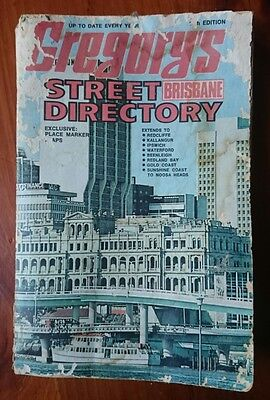 Vintage Gregory's Brisbane Street Directory 11th Edition