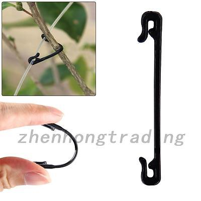 100pcs Garden Plastic Ties Plant Greenhouse Cable Tree Climbing Support Reusable