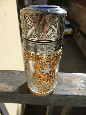 Flacon Cristal Art Nouveau  1900 Baccarat Saint Louis  Decor  Muses A L Antique