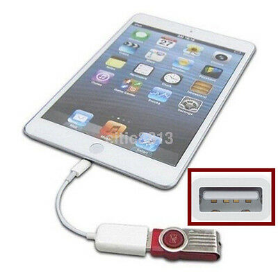 Camera Connection Kit to USB Host OTG Cable Adapter Reader For iPad 4 iPad mini^