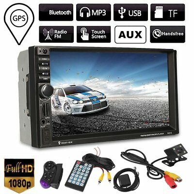 "7"" HD Double 2 DIN GPS SAT Nav MP5 Player Car Stereo Touch Bluetooth Radio FM OZ"