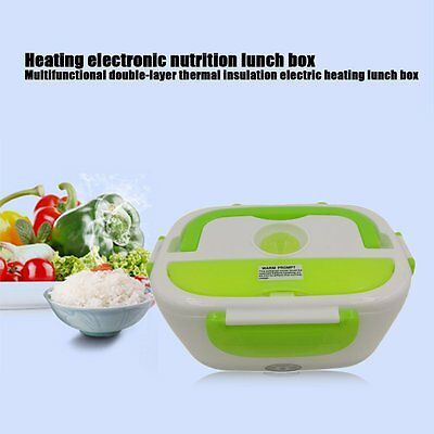 Portable Multifunctional Electric Heated Lunch Box Office Home Food Warmer 12V Y